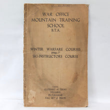 WW2 Mountain Warfare Skiing Manual | War Office (1946)