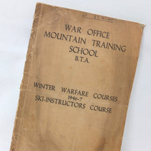 War Office Mountain Warfare Skiing Manual