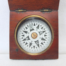 Francis Barker Wooden Box Compass c.1860