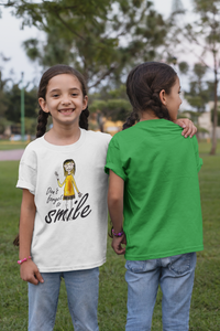 Don´t forget to smile - Kinder T-Shirt