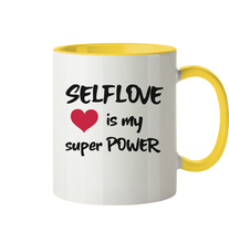 Laden Sie das Bild in den Galerie-Viewer, SELFLOVE is my super POWER - Tasse