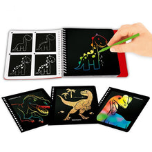 Load image into Gallery viewer, Dino World Mini Magic Scratch Book