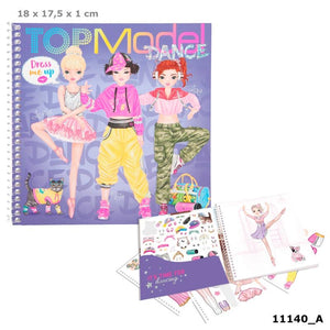 TOP Model Dress Me Up Stickerbook DANCE