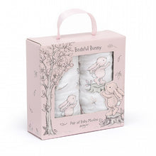 Load image into Gallery viewer, JELLYCAT Bashful Bunny Boxed of 2 Muslins   Pink