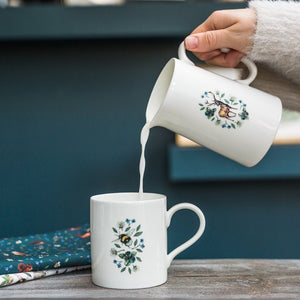 Toasted Crumpet Wild Flower Meadows Bee Mug