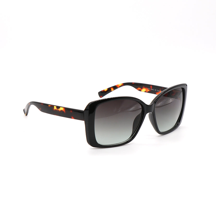 Dark tortoiseshell square sunglasses.