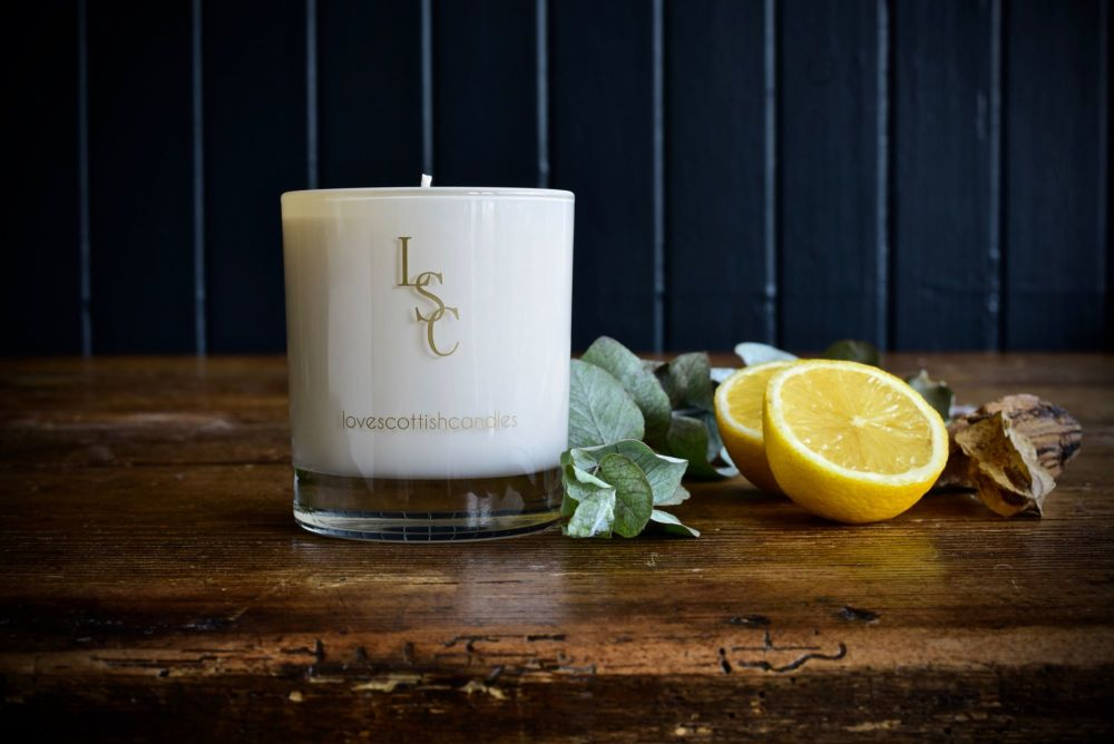 Love Scottish - Lemongrass Soy Wax Candle