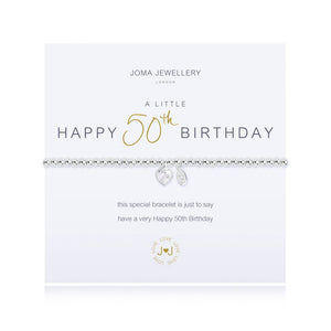JOMA JEWELLERY - Happy 50th Birthday Bracelet