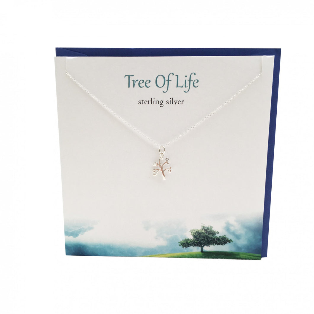 Silver Studio Tree of Life Sterling Silver Pendant & Card