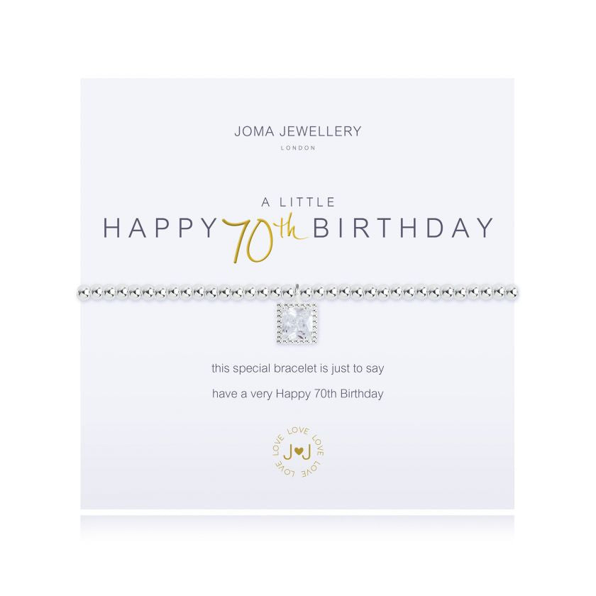 JOMA JEWELLERY - Happy 70th Birthday Bracelet