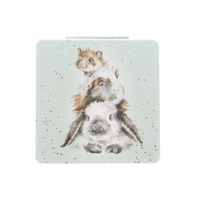 Wrendale Furry Friends Compact Mirror