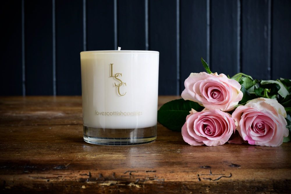 Love Scottish - Scottish Rose Soy Wax Candle