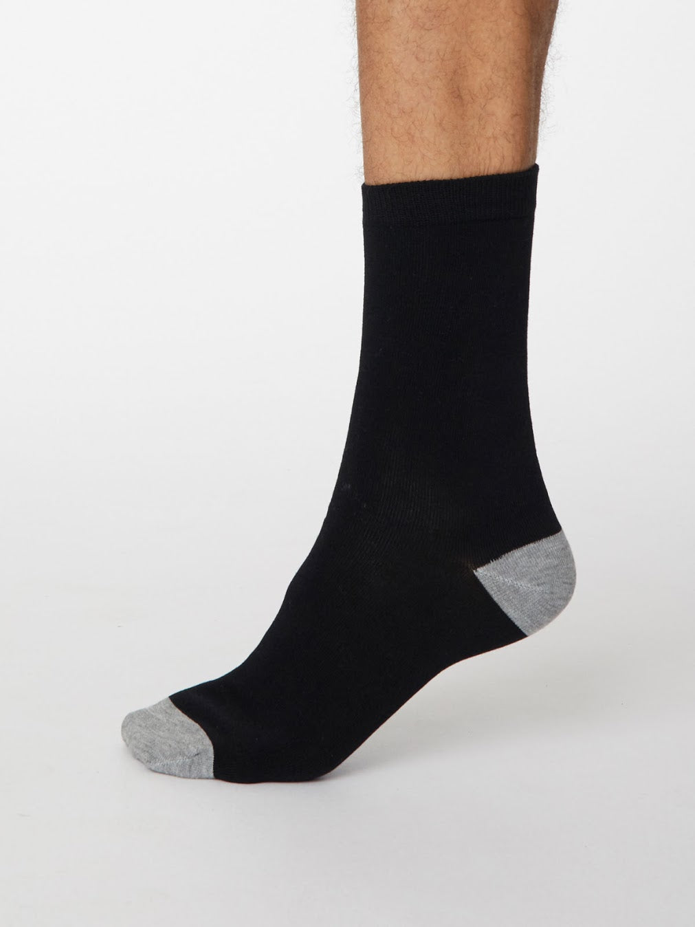thought Black Solid Jack Bamboo Cotton Socks 7-11