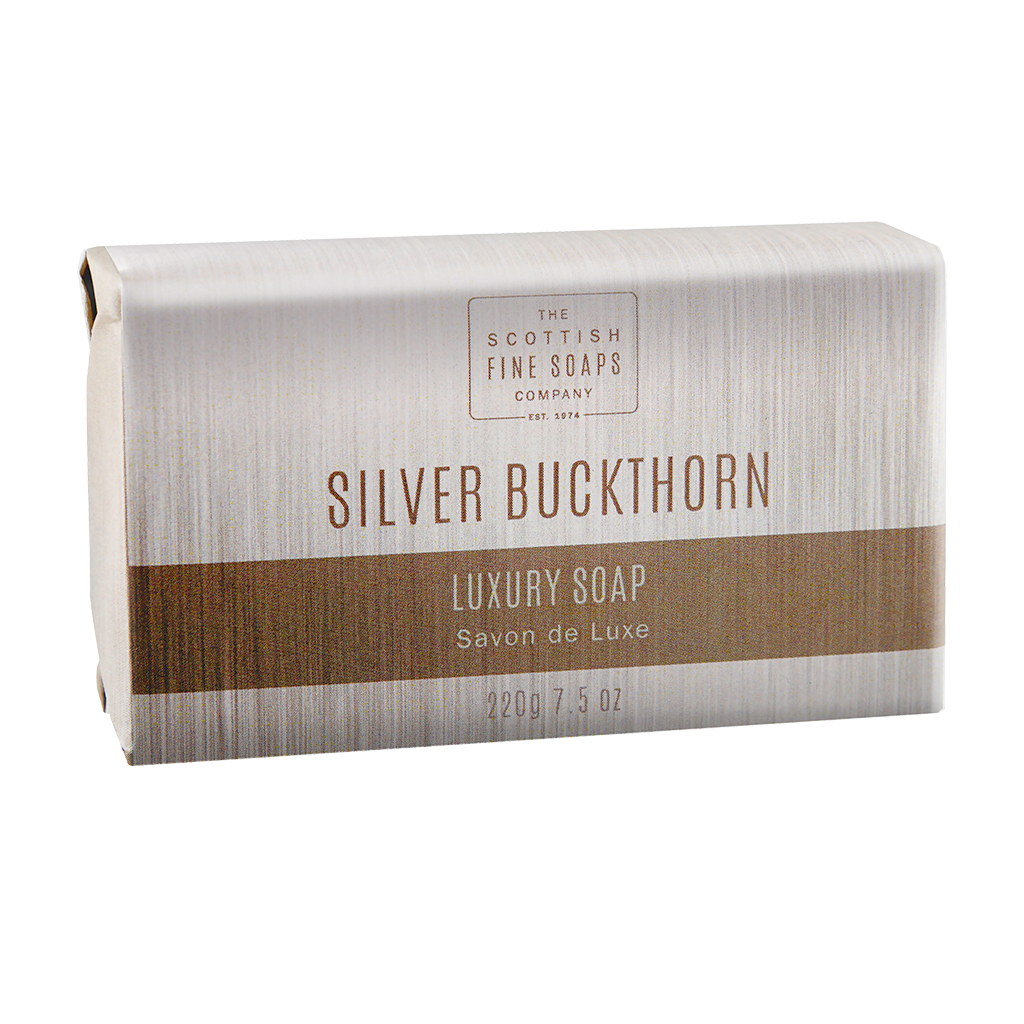 Scottish Fine Soaps Silver Buckthorn Luxury Soap Bar 220g