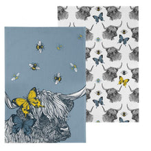 Load image into Gallery viewer, Gillian Kyle Highland Coo Tea Towels Pack of 2
