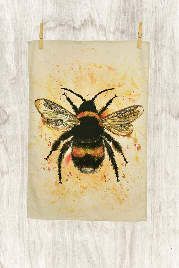 Dollyhotdogs Bee Tea Towel