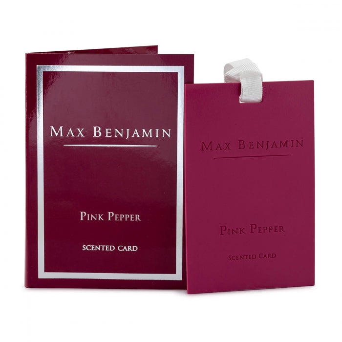 Max Benjamin Pink Pepper Scented Card