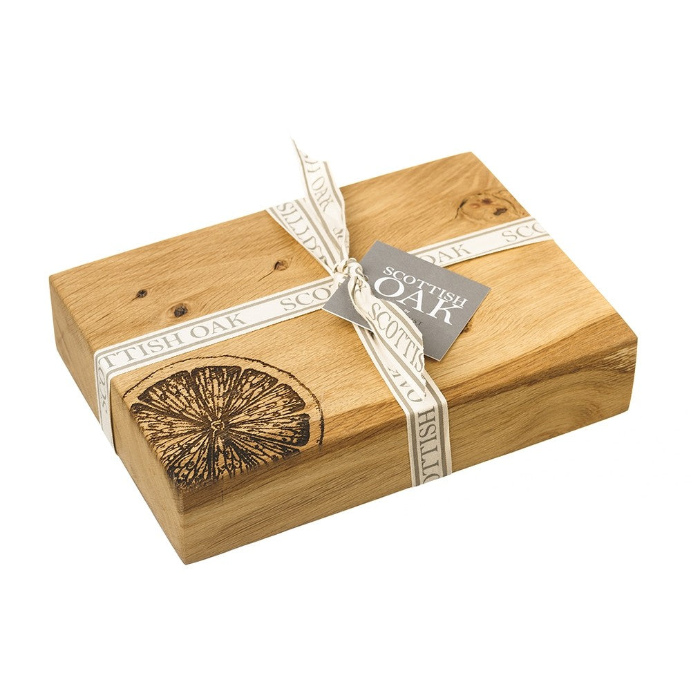 Just Slate Oak Citrus Chopping Board 19cm