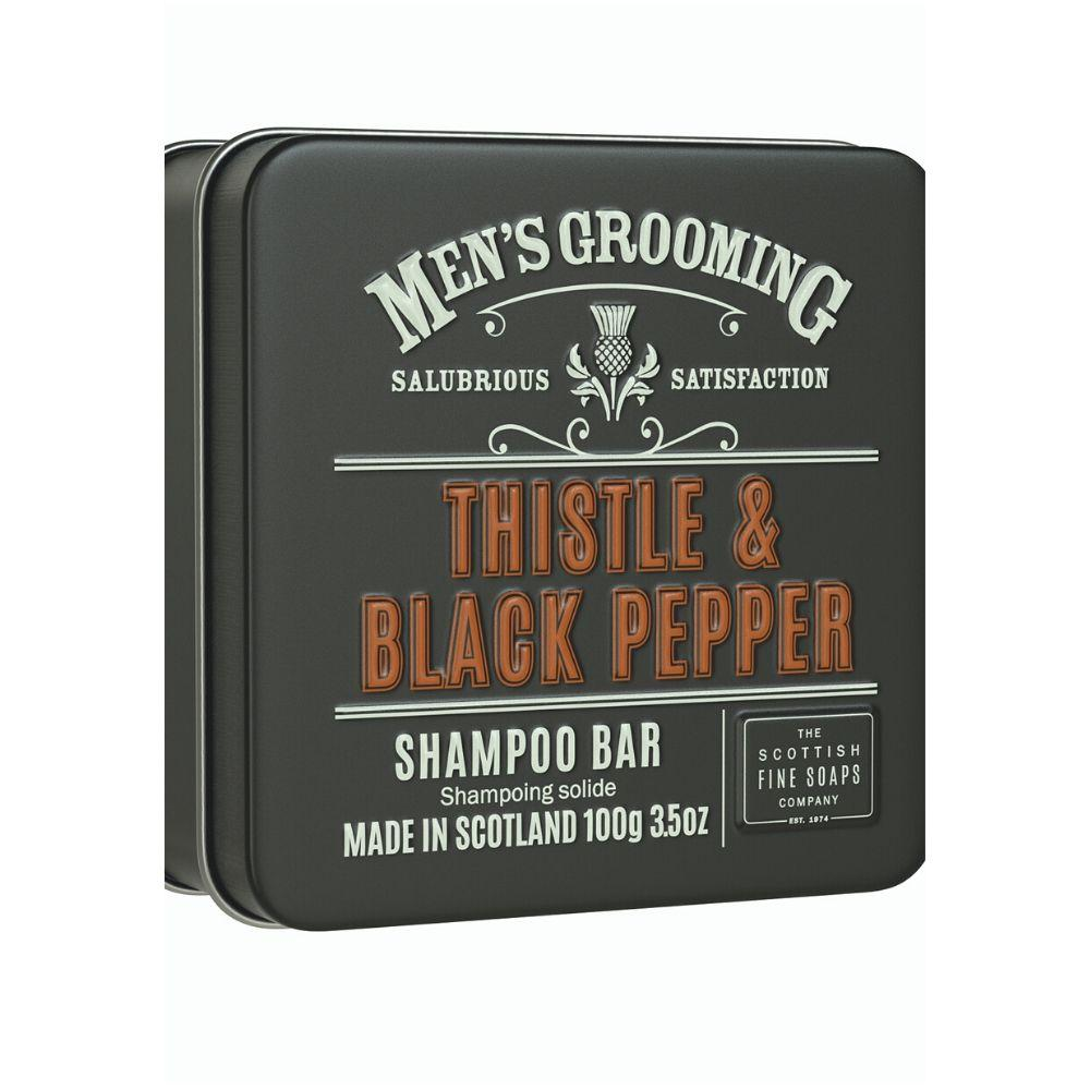 Scottish Fine Soaps Thistle & Black Pepper Shampoo Bar