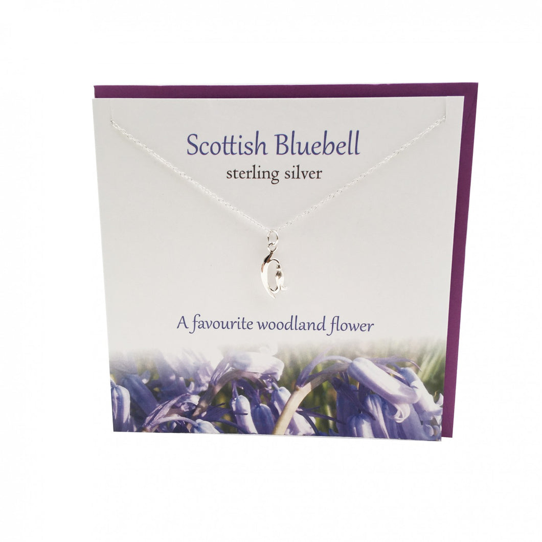 Silver Studio Scottish Bluebell Sterling Silver Pendant & Card