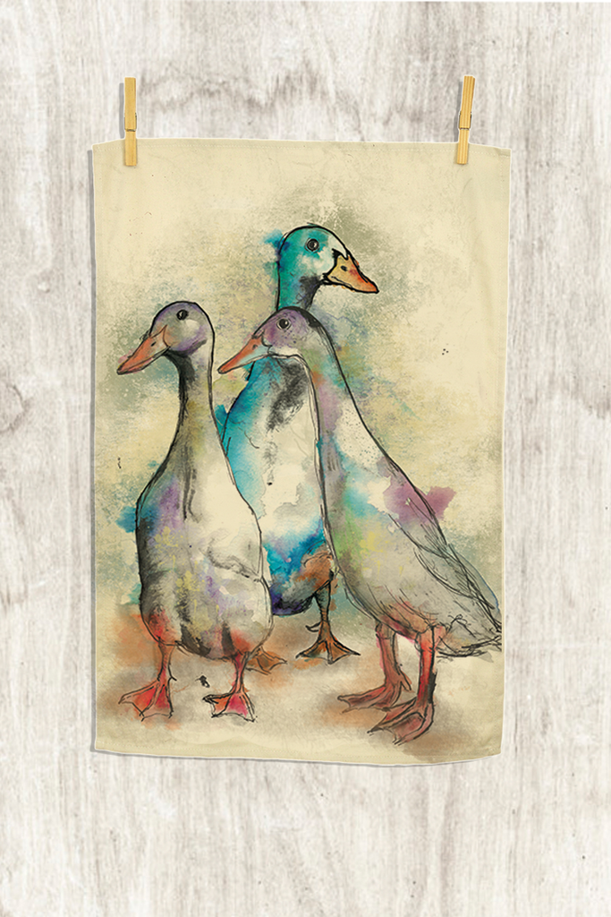 Dollyhotdogs Runner Ducks Tea Towel