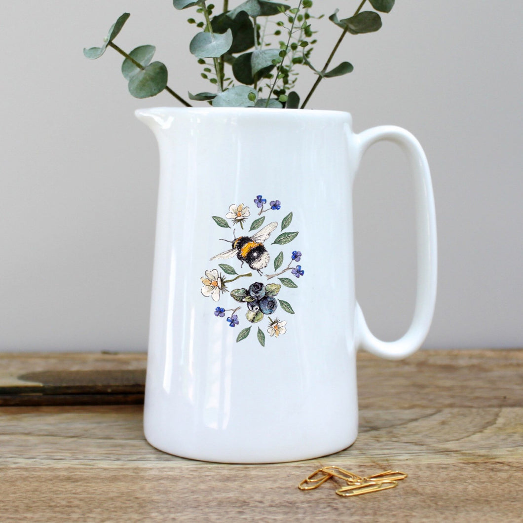 Toasted Crumpet Wild Flower Meadows Bees Pint Jug