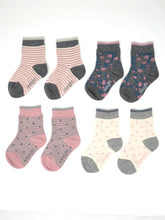 Load image into Gallery viewer, Thought - Rose Bamboo Kids Spot/Stripe Socks Gift Boxed
