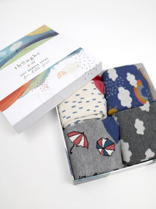 Thought - Overcast Bamboo Kids Weather Socks Gift Boxed