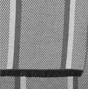 Men's scarf - Grey mix herringbone stripe.