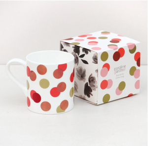 Caroline Gardner - Metallic Spot Boxed Bone China Mug