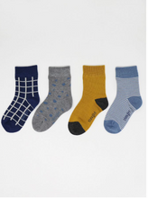 Load image into Gallery viewer, thought - River Bamboo Organic Cotton Blend 4 Pack Kids Socks Gift Box