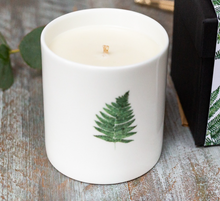Load image into Gallery viewer, Toasted Crumpet  Woodland Fern and Oakmoss Candle in a Fine Bone China Pot