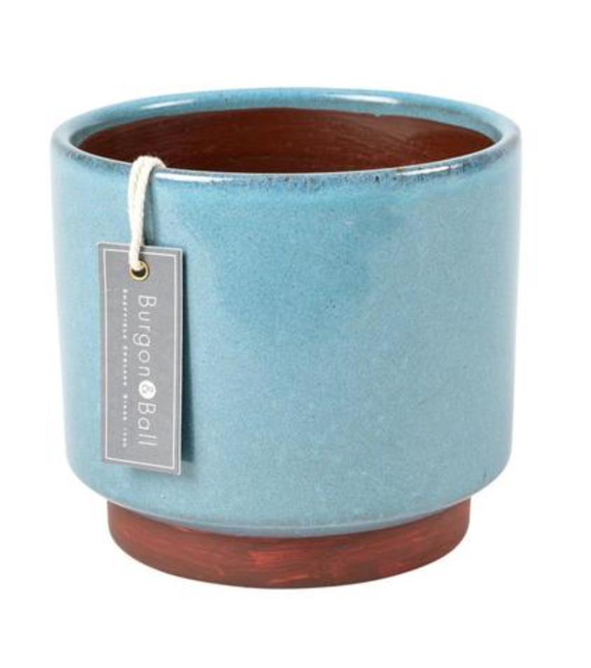 Burgon & Ball -  Malibu Blue Glazed Pot - Extra Large