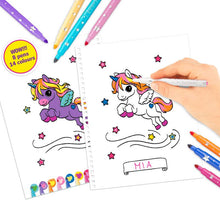 Load image into Gallery viewer, Top Model - Unicorn Colouring Book with Pen Set