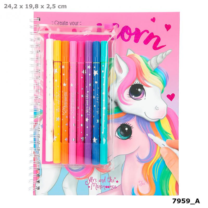 Top Model - Unicorn Colouring Book with Pen Set