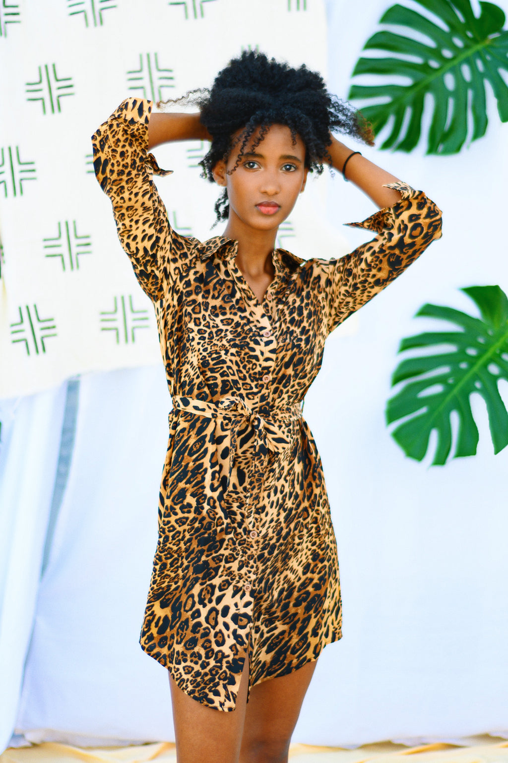 Cheetah Shirt Dress