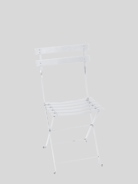 Bistro Metall Folding Chair - Cotton White Furniture Fermob