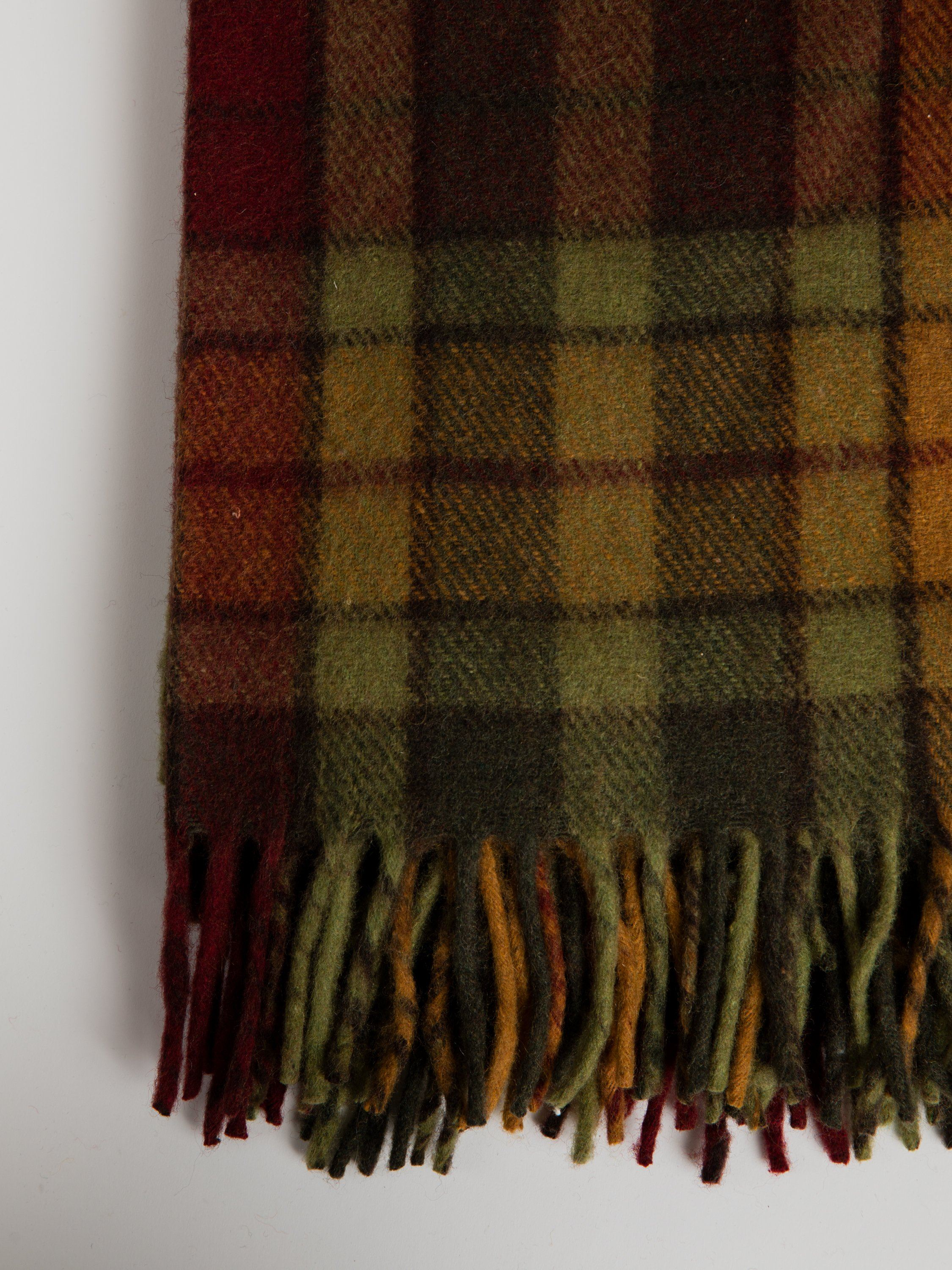 Blanket in Recycled Wool - Autumn Buchanan Tartan Blanket Tartan Blanket Company