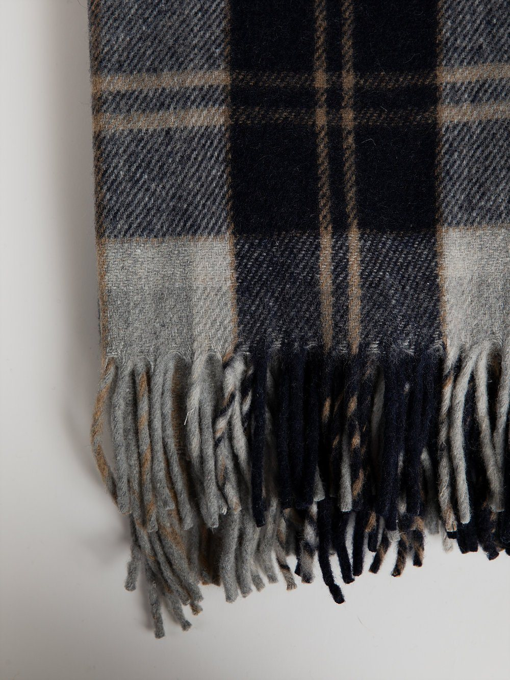 Blanket in Recycled Wool - Bannockbane Silver Tartan