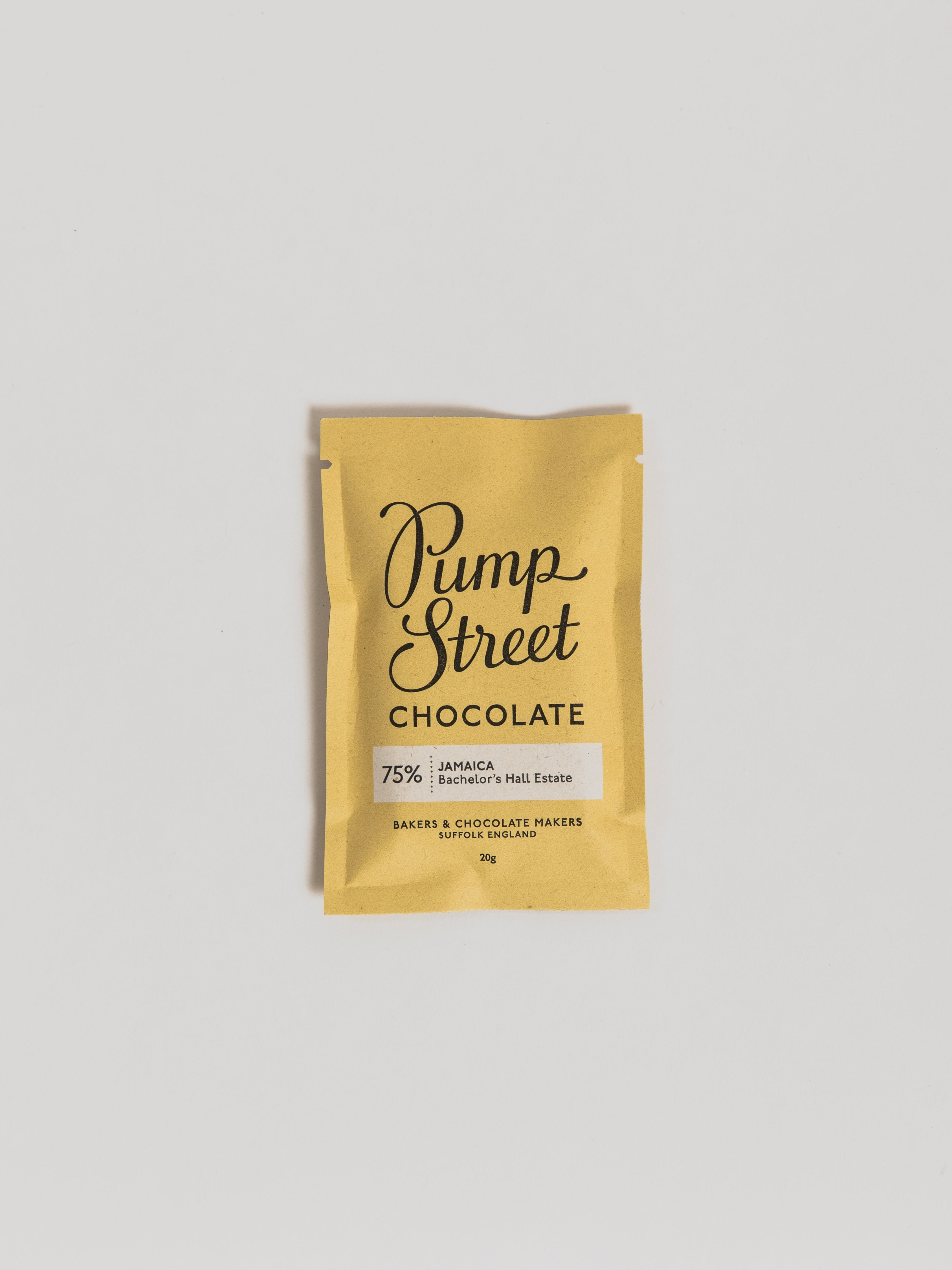 Chocolate Bar - 20g Chocolate Pump Street Chocolate Jamaica 75 %