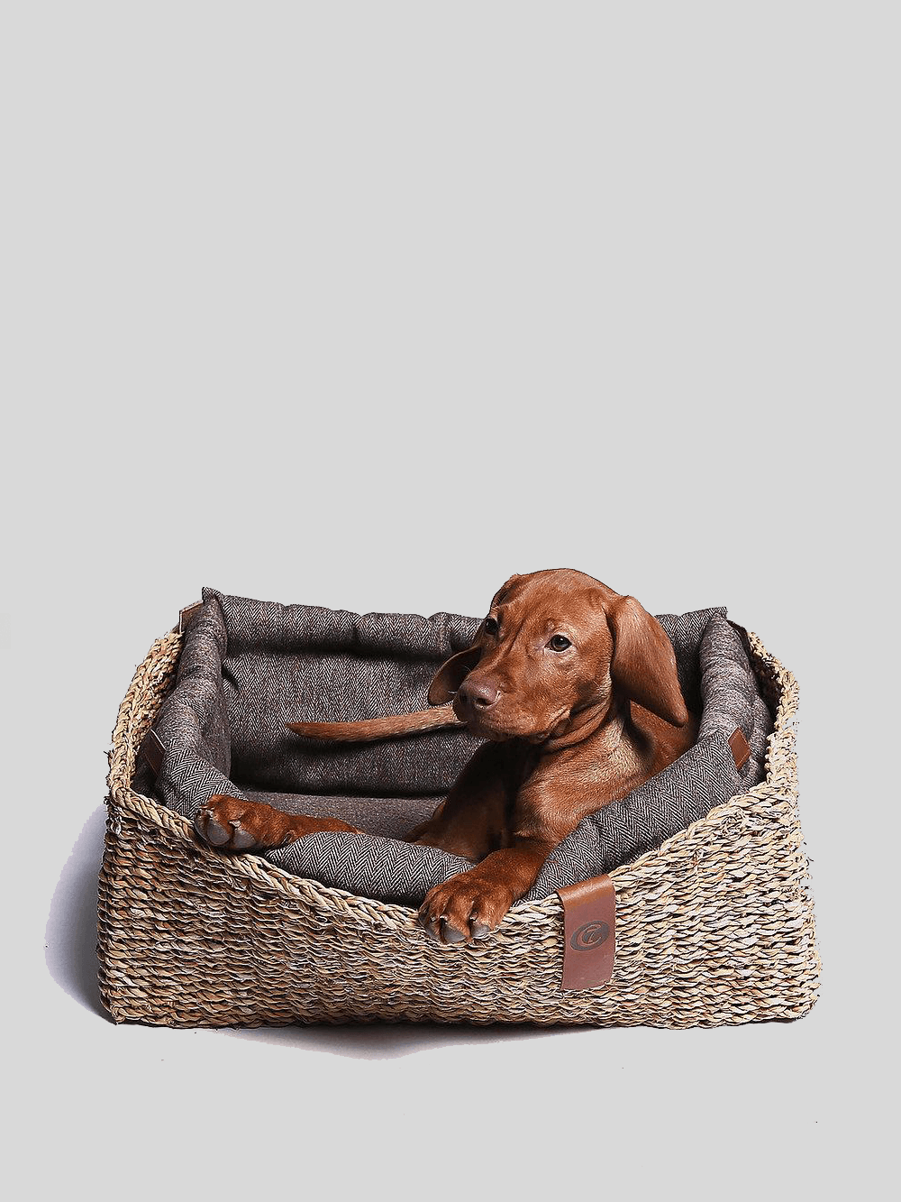 Dog Bed Hideaway - Herringbone Brown Dog Bed Cloud7