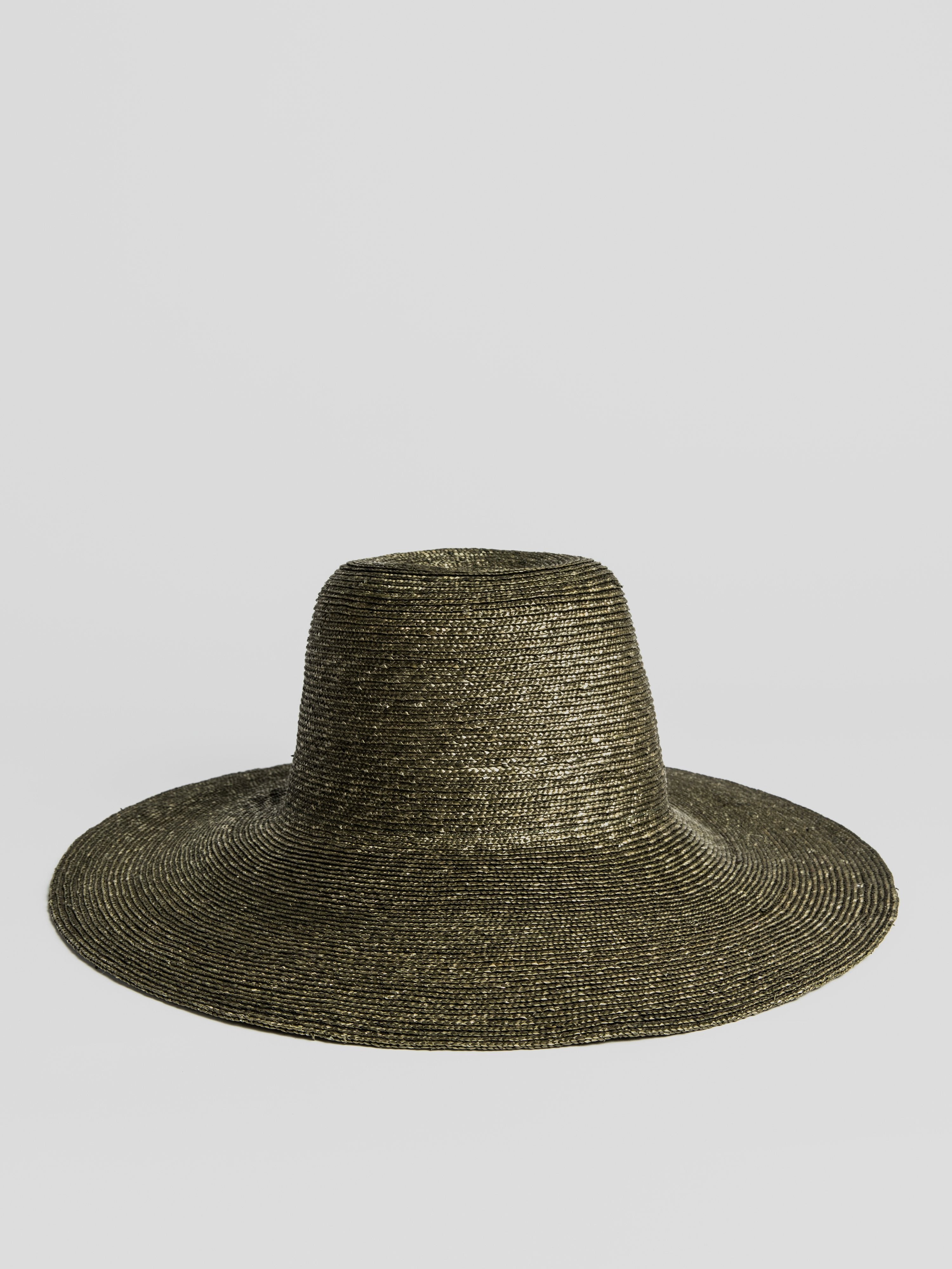 Straw Hat - Braided Capeline in Sage Green Hats éN Hats