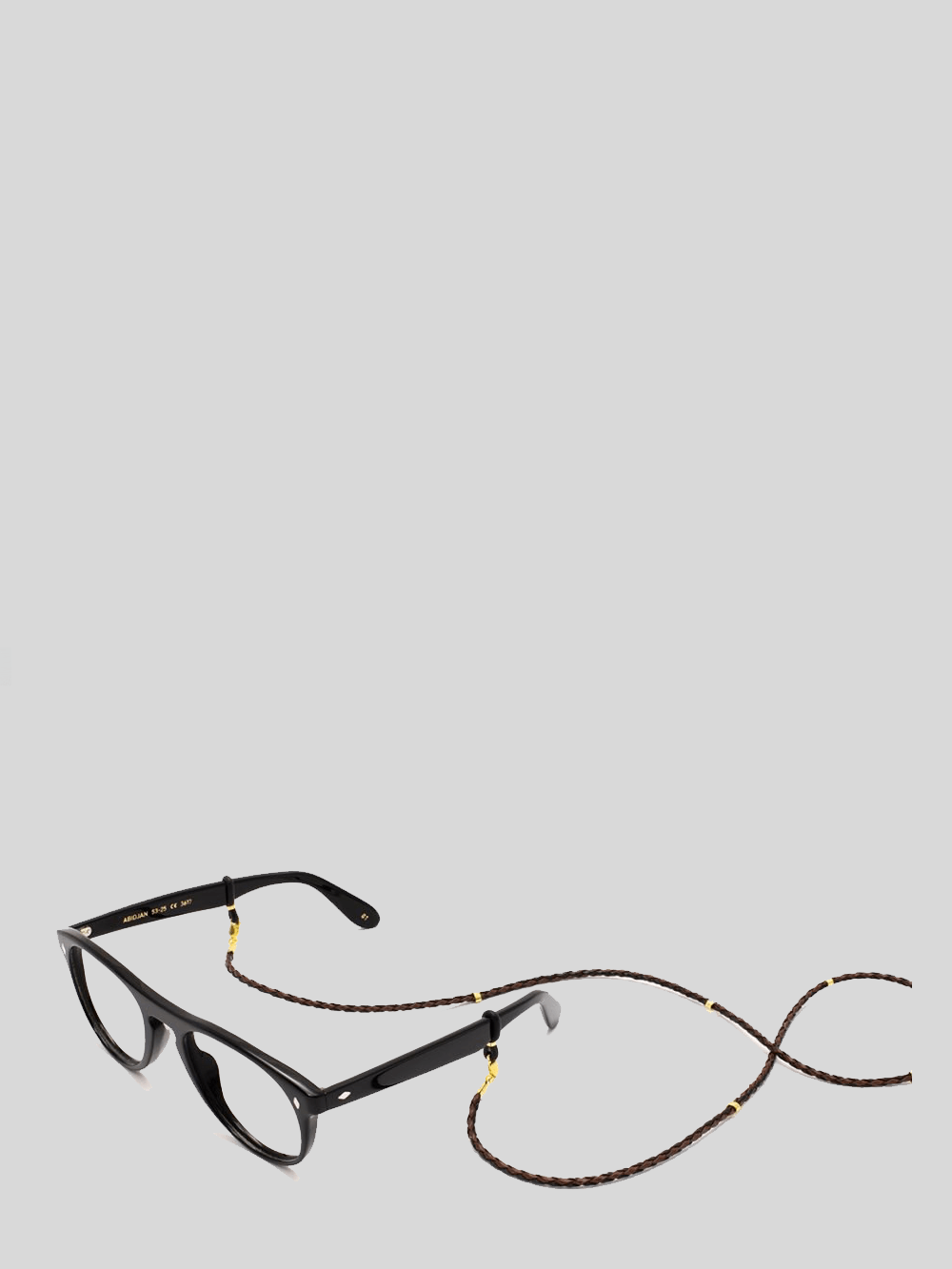 Sunglass Chain Handmade Leather Black Gold Sunglasses L.G.R.