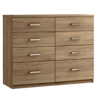 Modena 8 drawer twin chest