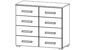 Essensa 8 Drawer chest