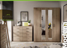 Load image into Gallery viewer, Modena double tall wardrobe with drawers