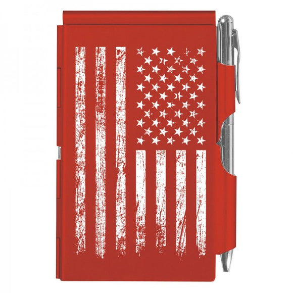Flip Note - Distressed Flag Red