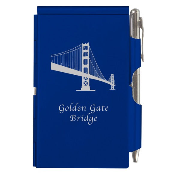 Flip Note - Royal Blue - Golden Gate Bridge