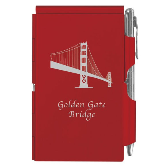 Flip Note - Red - Golden Gate Bridge