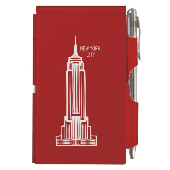 Flip Note - NY - Red Empire State Building